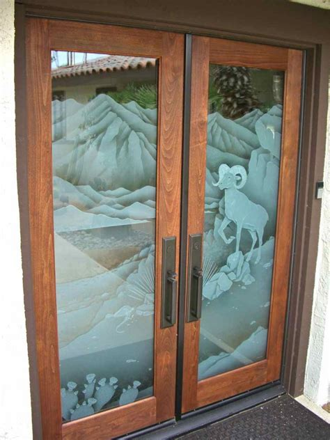 Glass Inserts For Doors Bighorn Sheep 3d Glass Door Inserts Sans Soucie