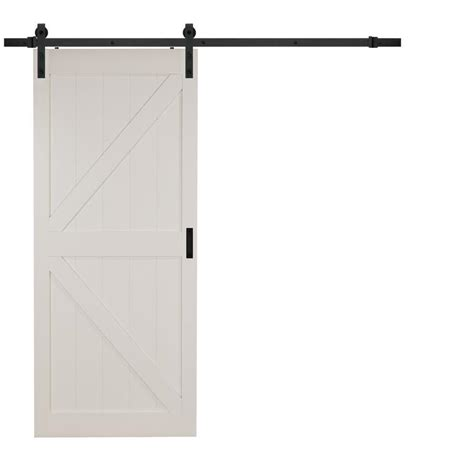 white interior barn doors shop reliabilt white soft barn interior door
