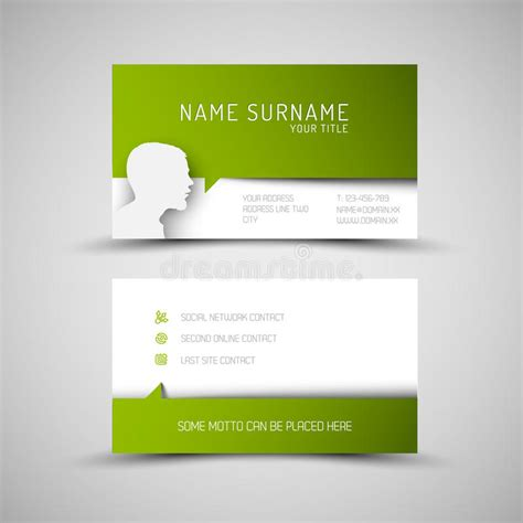 green business card template modern simple green business card template with user