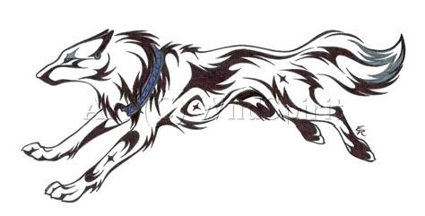 tattoo cartoon wolf running wolf tattoo commission by wildspiritwolf on deviantart