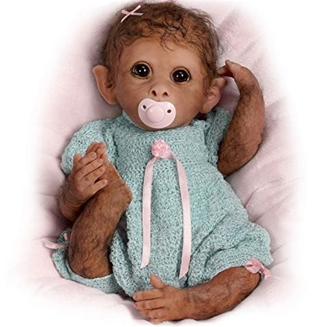 sock monkey business real life baby dolls so truly real weighted and fully poseable baby monkey doll
