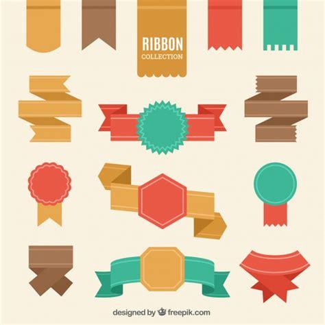 Pita Design Ribbon Hadiah Kado set de cintas retro en dise 241 o plano descargar vectores gratis