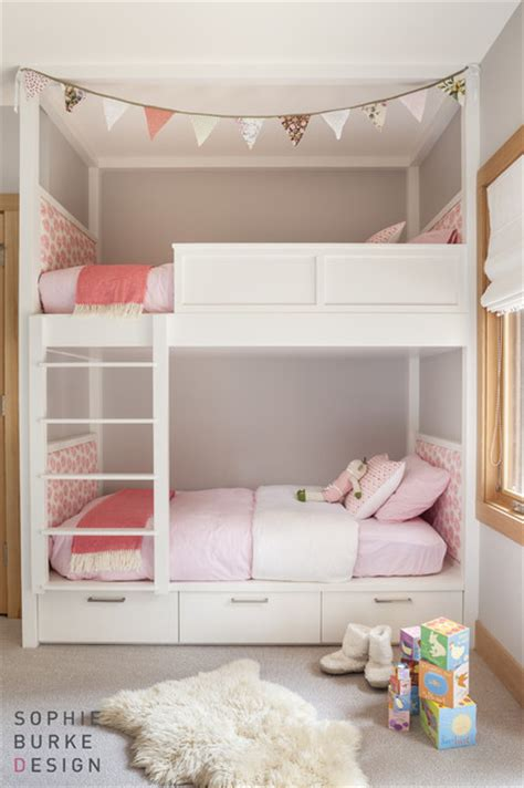 loft bed for girl lacquered bunk beds contemporary girl s room sophie