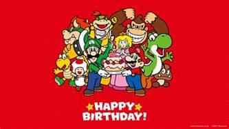 happy birthday mario nintendo releases mario quot happy birthday quot wallpapers