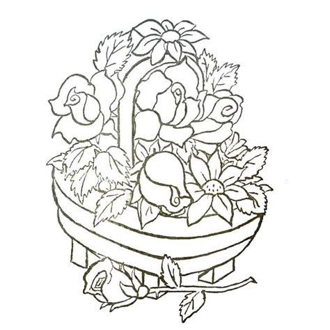1325003905 fleurs tropicales calendrier anniversaire coloriage panier de fleurs a imprimer gratuit broderie