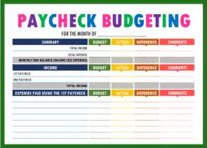 Paycheck To Paycheck Budget Spreadsheet Budget Binder Printables The Practical Saver