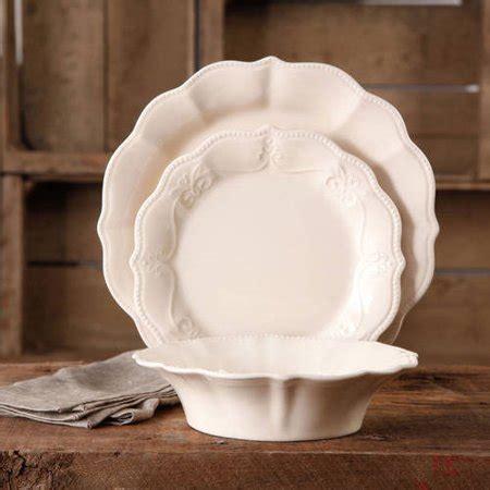 Restomart Plates 4 Pc Set the pioneer crackle glaze dinnerware set 12