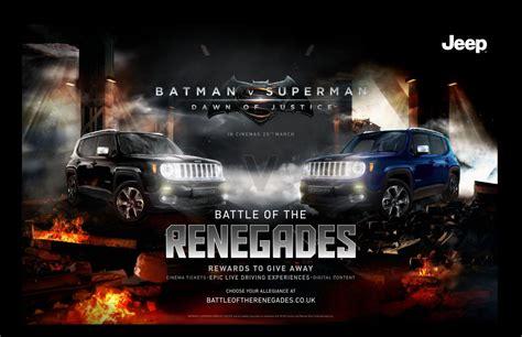 Batman Jeep Jeep Is Exclusive Car Partner Of Batman V Superman