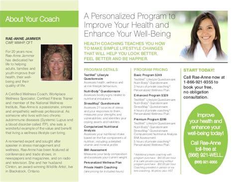 Health Coach Brochure Templates The Hakkinen Health Coach Brochure Templates