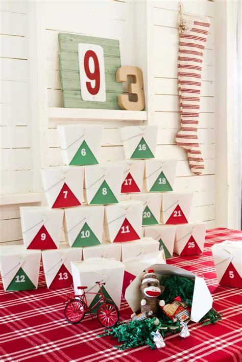 design advent calendar make your own takeout box advent calendar hgtv