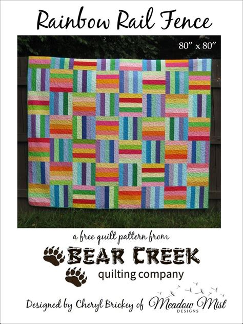 ionic rails tutorial rainbow rail fence free quilt pattern