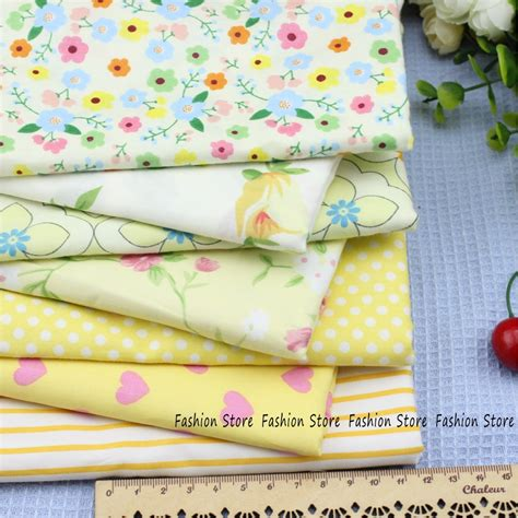 Tilda Patchwork Fabric - aliexpress buy yellow series cotton fabric bundle
