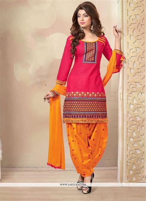 buy assam silk salwar kameez online designer punjabi suit hot pink cotton designer punjabi suit designer punjabi