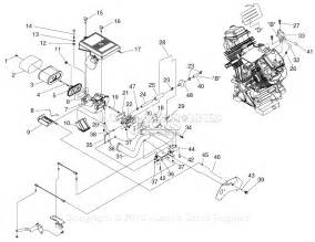 generac 005072 1 gth990 parts diagram for carburetor air intake