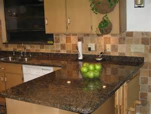 Backsplashes For Kitchens With Granite Countertops Black Granite Countertops With Tile Backsplash Home