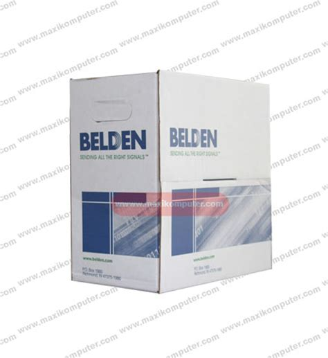 Dijamin Kabel Utp Belden Usa Cat 5 1 Roll Original kabel utp 1 roll belden cat 5e usa