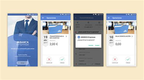 banca electronica de abanca nueva app abanca firma empresas