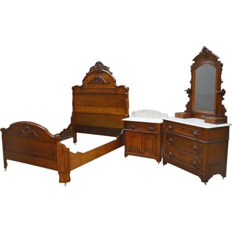 antique bedroom set antique 3 three piece victorian marble top bedroom set
