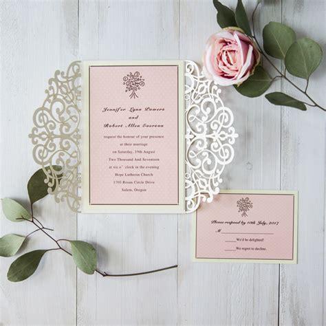 pre cut card for wedding invitations laser cut wedding invitations part 7