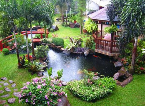cool backyard pond garden design ideas amazing