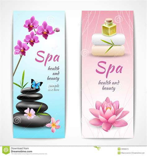 design banner spa spa vertical banners stock vector image 39990673