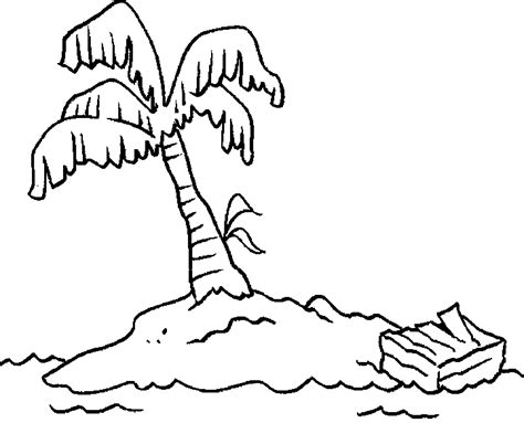 desert island coloring pages print coloring pages