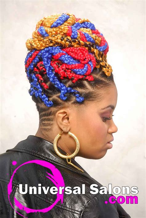 multi colored box braids bold multi colored box braids hairstyle from shae thompson
