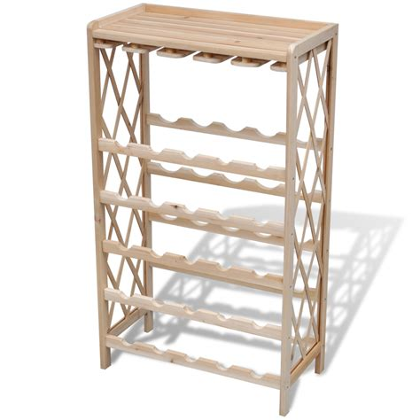 vidaxl co uk wood wine rack wine shelf storage for 25