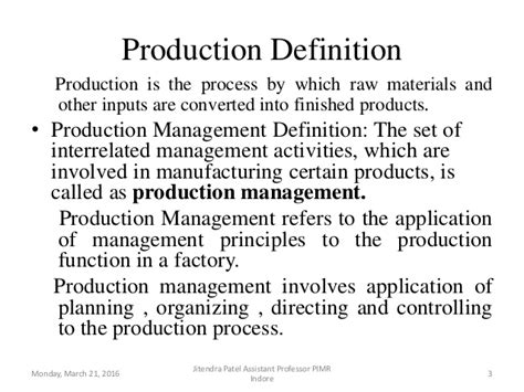 produce definition introduction to production and operation management
