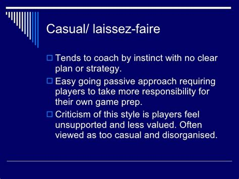 definition of style sports coaching intro