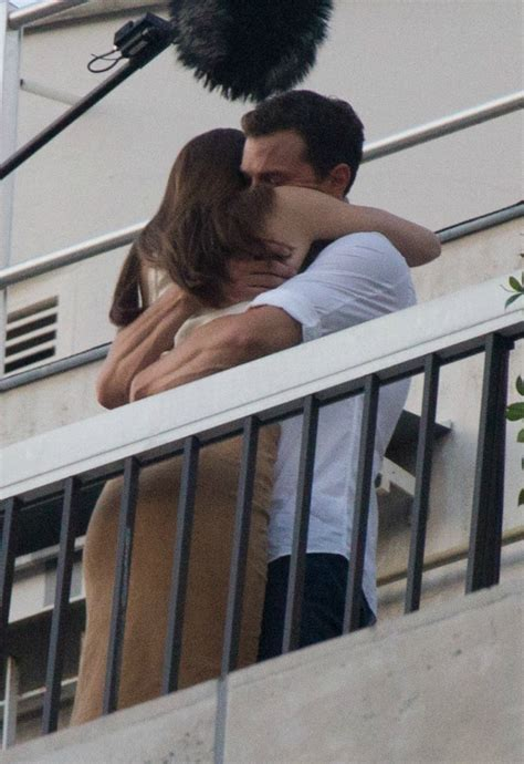 fifty shades darker filming twitter fifty shades ana steele and christian grey share a kiss