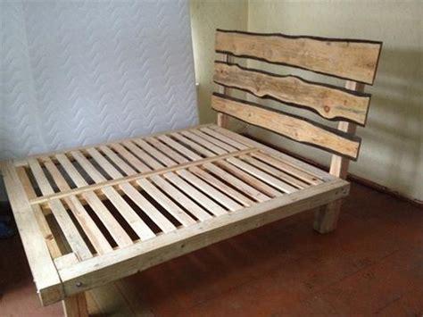 wooden bed frame ideas diy pallet wood bed frame ideas pallets designs