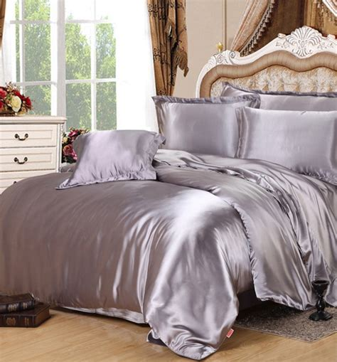 silk bed sets silver silk comforter sets grey satin bedding set sheets