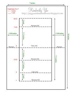a4 stepper card template side step template a4 fancy folding cards