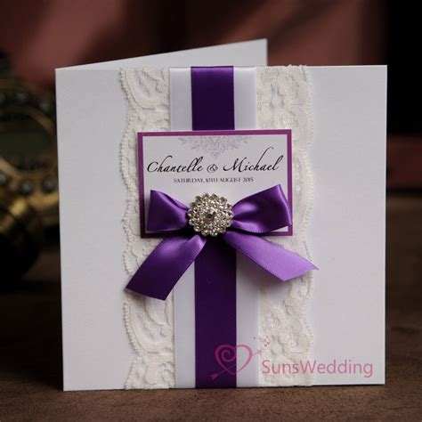 wedding invitation ribbon buckles white lace wedding invitations with ribbon bow