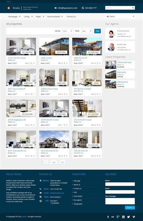 drupal themes envato realia responsive real estate drupal theme by aviators