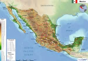 physical maps of mexico physical map of mexico my
