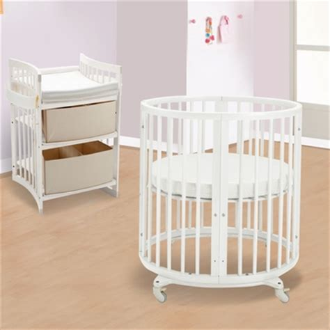 Mini Crib With Changing Table Stokke Sleepi 2 Nursery Set Mini Bundle Crib And Care Changing Table In White Free Shipping