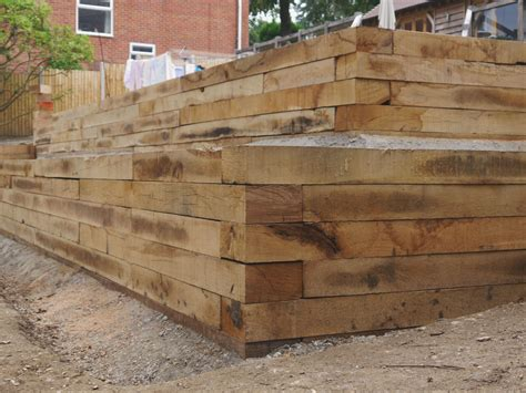new oak sleepers paving landscaping