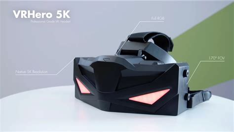 To 5k Plus by Vrhero 5k Plus The World S Vr Headset With High Density Oled Displays