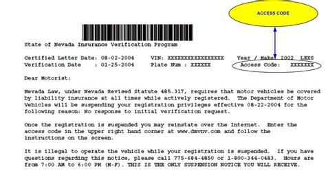 IVP Reinstatement Certified Letter