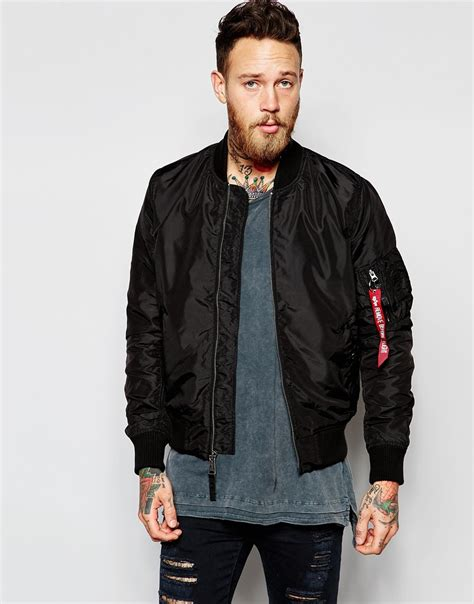 Jual Jaket Bomber Alpha Industries Lyst Alpha Industries Ma 1 Bomber Jacket In Black For