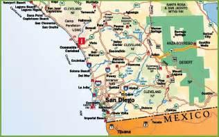 San Diego Freeway Map by San Diego Area Road Map