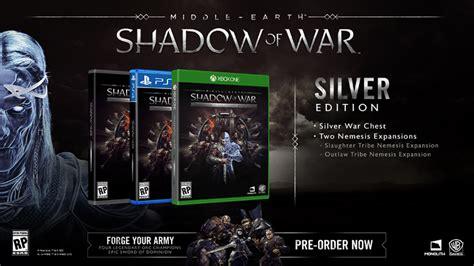 Middle Earth Shadow Of War Silver Edition Reg 3 Ps4 предзаказ middle earth shadow of war silver edition дешевле steam