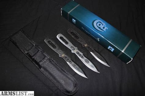colt throwing knives armslist for sale colt 3 pc throwing knife set fixed
