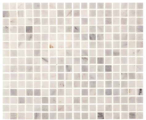 "12""x12"" Aspen White Marble Square Tile   Contemporary"