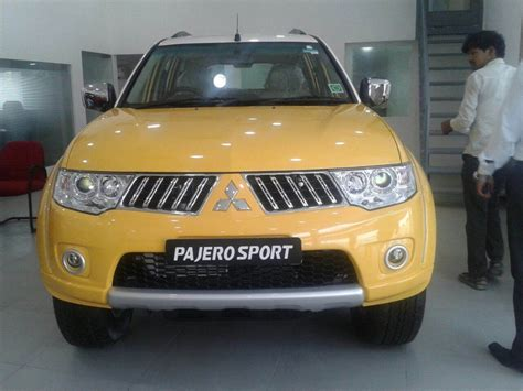 mitsubishi yellow mitsubishi pajero sport now with dual tone paint job
