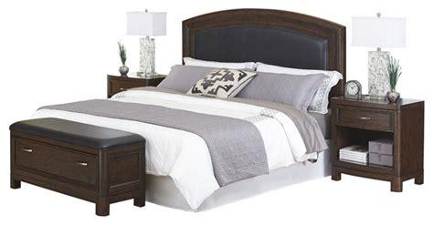 crescent bedroom set crescent hill king leather upholstered headboard