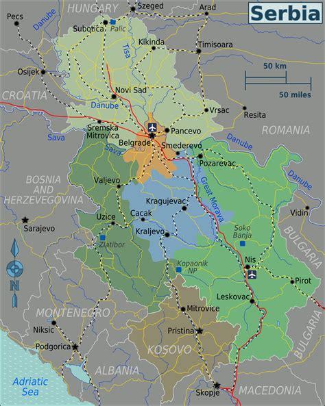 landkarte serbien touristische karte weltkarte
