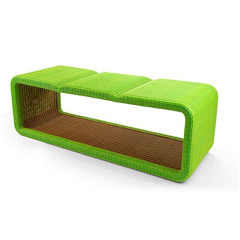 contemporary garden bench hollow modern triple indoor outdoor bench le h3